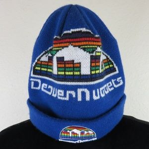 New Era Retro Denver Nuggets Skyline Knit Beanie